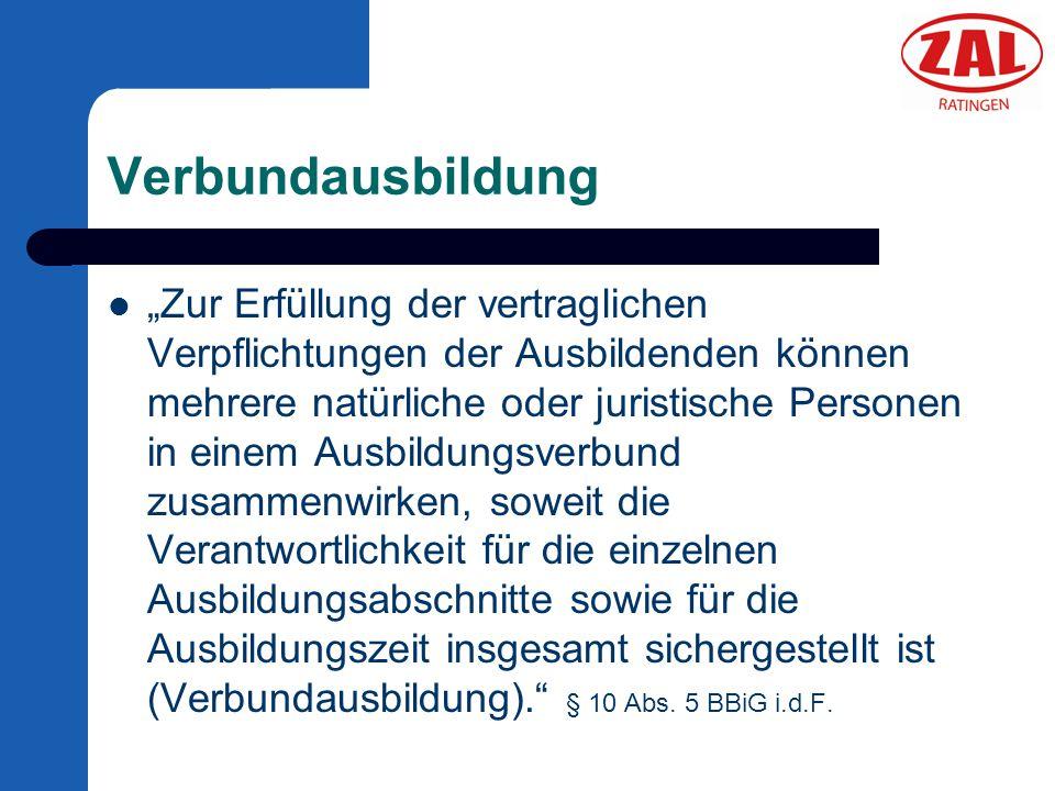 Verbundausbildung bei der ZAL Ratingen GmbH Berufe in den Bereichen – Elektro – Metall – Lager individuell zugeschnitten Prüfungsvorbereitung (auch einzeln) Geeignete Auszubildende finden