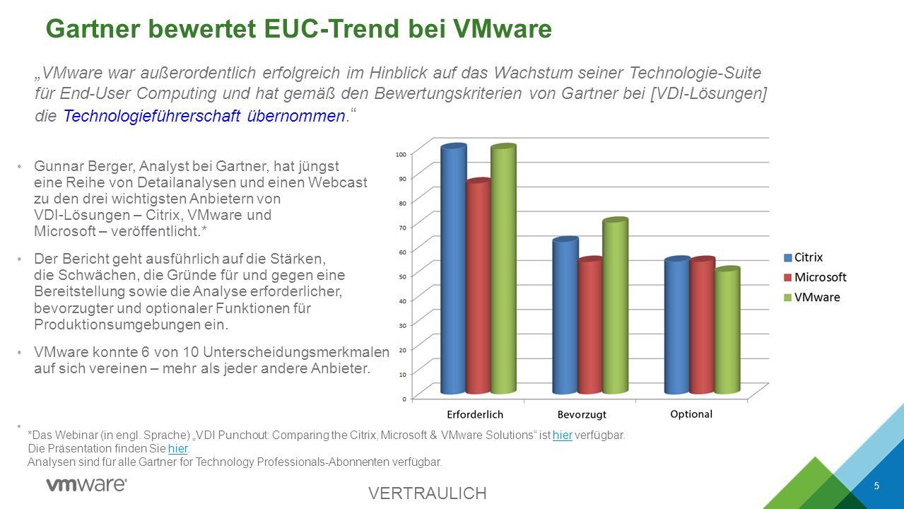 Gartner bewertet EUC-Trend bei VMware Gunnar Berger, Analyst bei Gartner, hat jüngst eine Reihe von Detailanalysen und einen Webcast zu den drei wicht