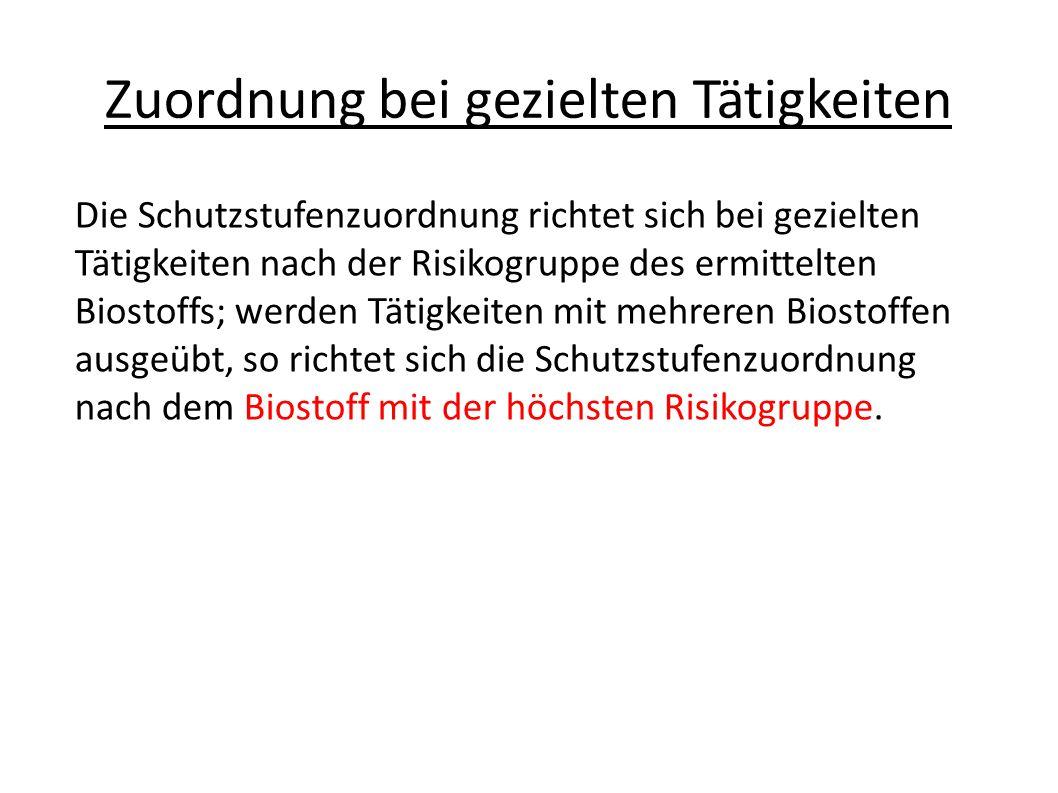 Einstufungsbeispiele S1: Kein Risiko Bäckerhefe, E.