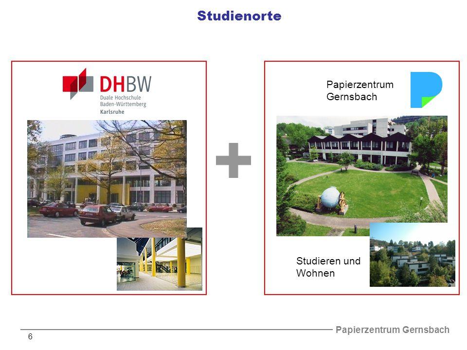 Papierzentrum Gernsbach 7 Studien- und Ausbildungsstruktur - Studienbeginn:1.