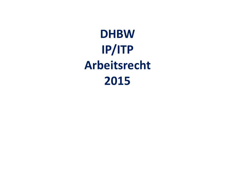 DHBW IP/ITP Arbeitsrecht 2015