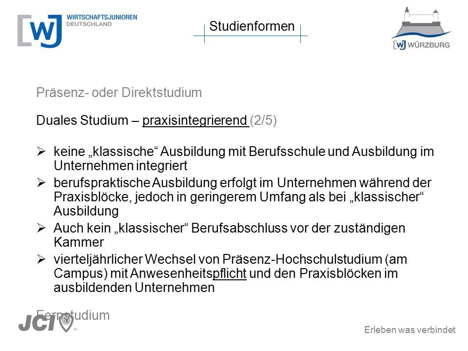 Erleben was verbindet HFH Hamburger Fern-Hochschule, Studienzentren Würzburg(2/3) Wirtschaft  BWL mit verschiedenen Vertiefungen  Wirtschaftsrecht  … Technik  Wirtschaftsingenieure  … Duale Studiengänge in und um Mainfranken