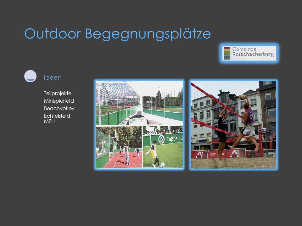 Teilprojekte Minispielfeld Beachvolley Echteisfeld MZH Ideen