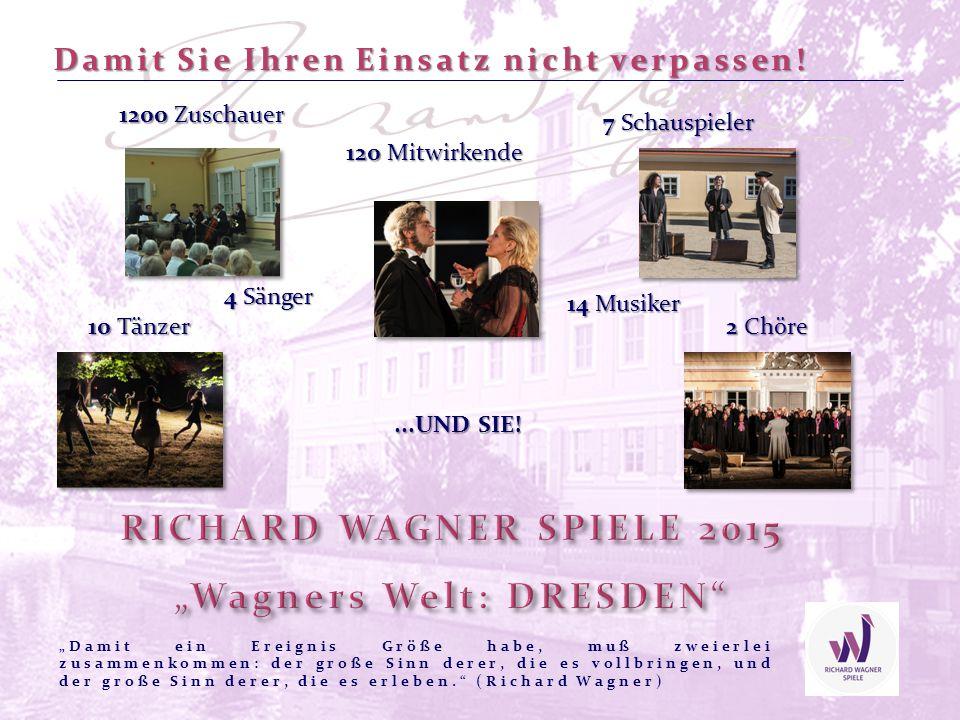 Richard Wagner verbrachte viel Zeit als Jugendlicher sowie in seiner Zeit als Dresdner Hofkapellmeister im heutigen Tschechien – Wir freuen uns daher auf eine Kooperation und einen künstlerischen Austausch mit der Nordböhmischen Philharmonie Teplice und Tänzern der Grenzregion.