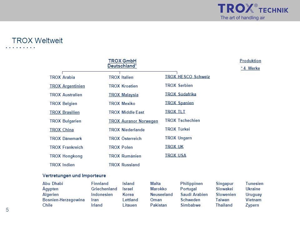 6 Compliance Management System der TROX GmbH Gründe für die Einführung: stetiges Wachstum des Unternehmens vor allem im Ausland Gestiegener Bedarf für Kontrolle u.