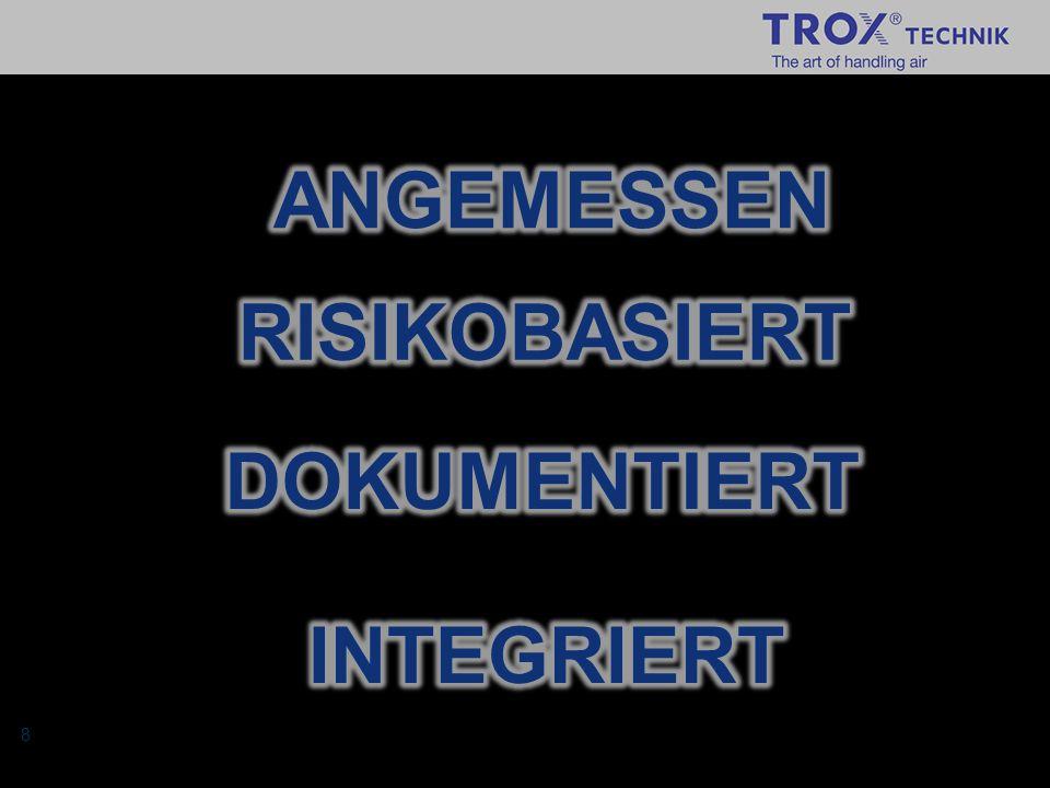 19 In das Compliance System Einbebundene Personen / Abteilungen Die im Organigramm nicht erwähnten Personen sind: -TROX IT: Erstellung und Pflege der Datenbankanwendungen, Intranet, Kommunikation -Berater (München): in den ersten Monaten hin und wieder vor Ort, danach ca.