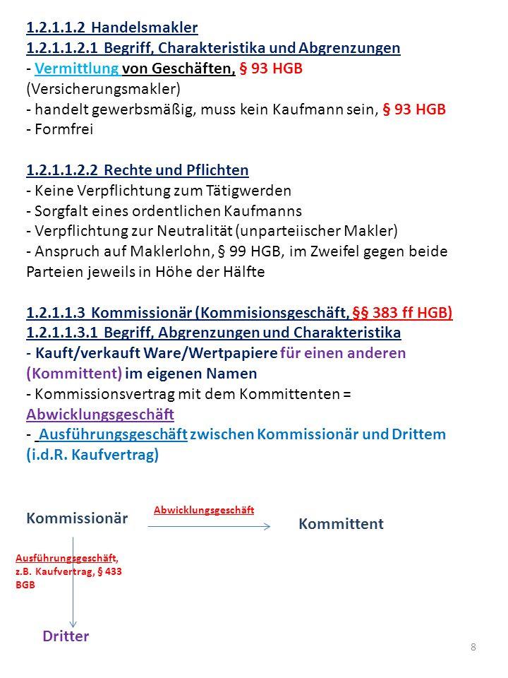 9 1.2.1.1.3.2 Rechte und Pflichten - Geschäftsbesorgungsvertrag, §§ 675, 662 ff.