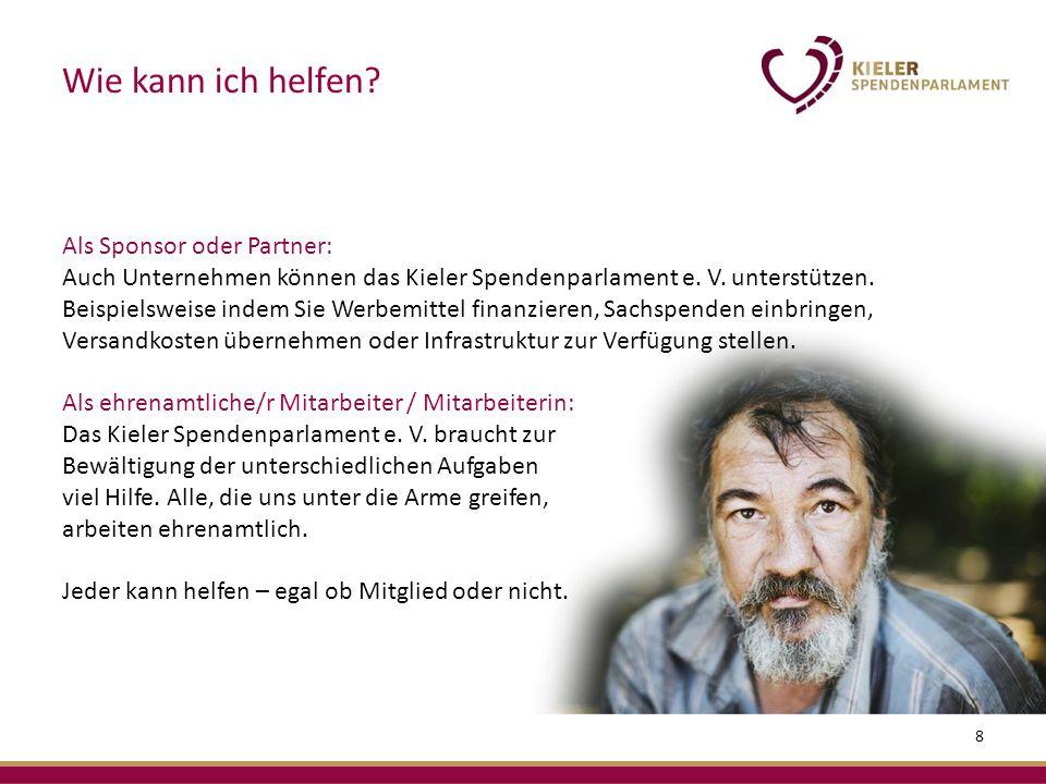 Als Sponsor oder Partner: Auch Unternehmen können das Kieler Spendenparlament e.
