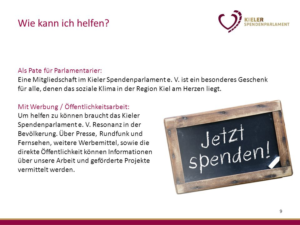 Als Pate für Parlamentarier: Eine Mitgliedschaft im Kieler Spendenparlament e.