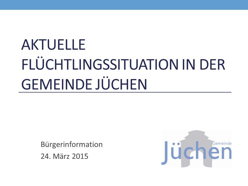 AKTUELLE FLÜCHTLINGSSITUATION IN DER GEMEINDE JÜCHEN Bürgerinformation 24. März 2015