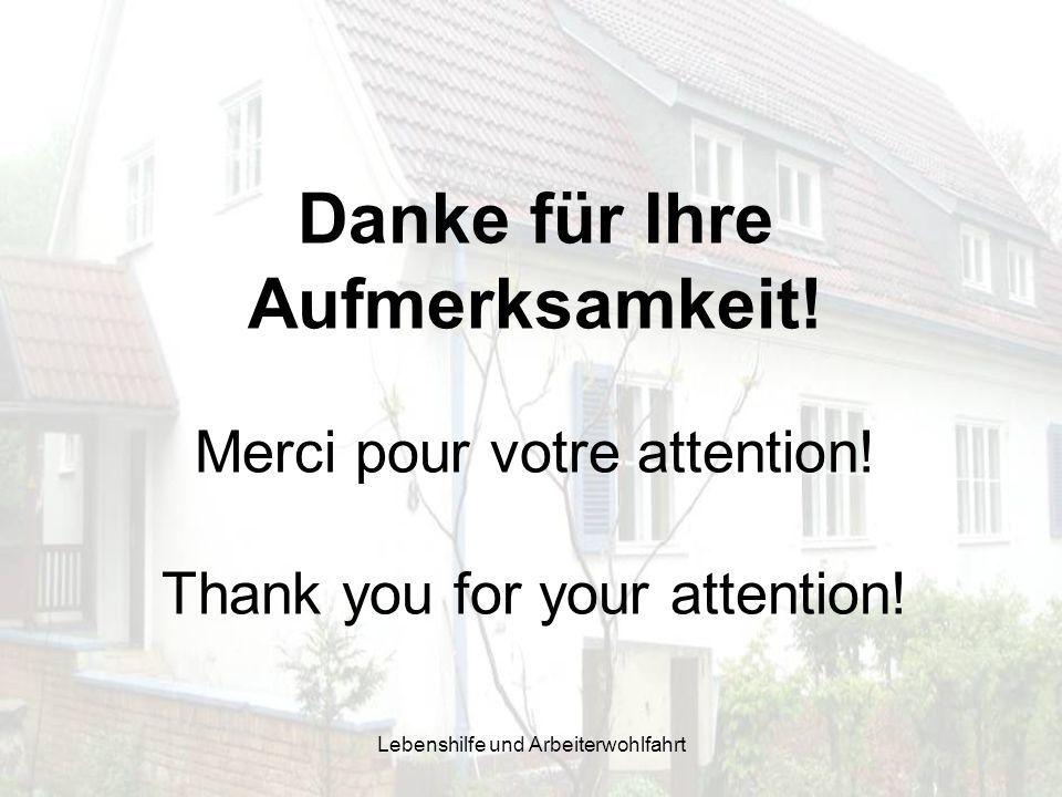 Danke für Ihre Aufmerksamkeit! Merci pour votre attention! Thank you for your attention!