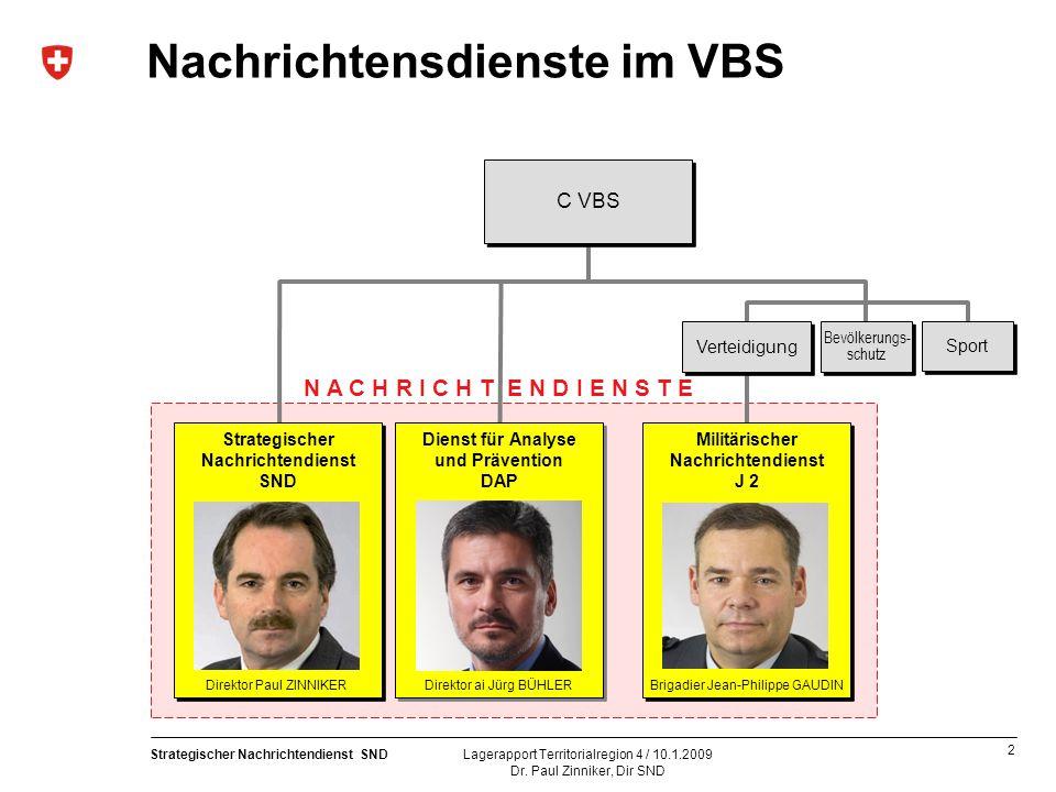 3 Strategischer Nachrichtendienst SND Dr.