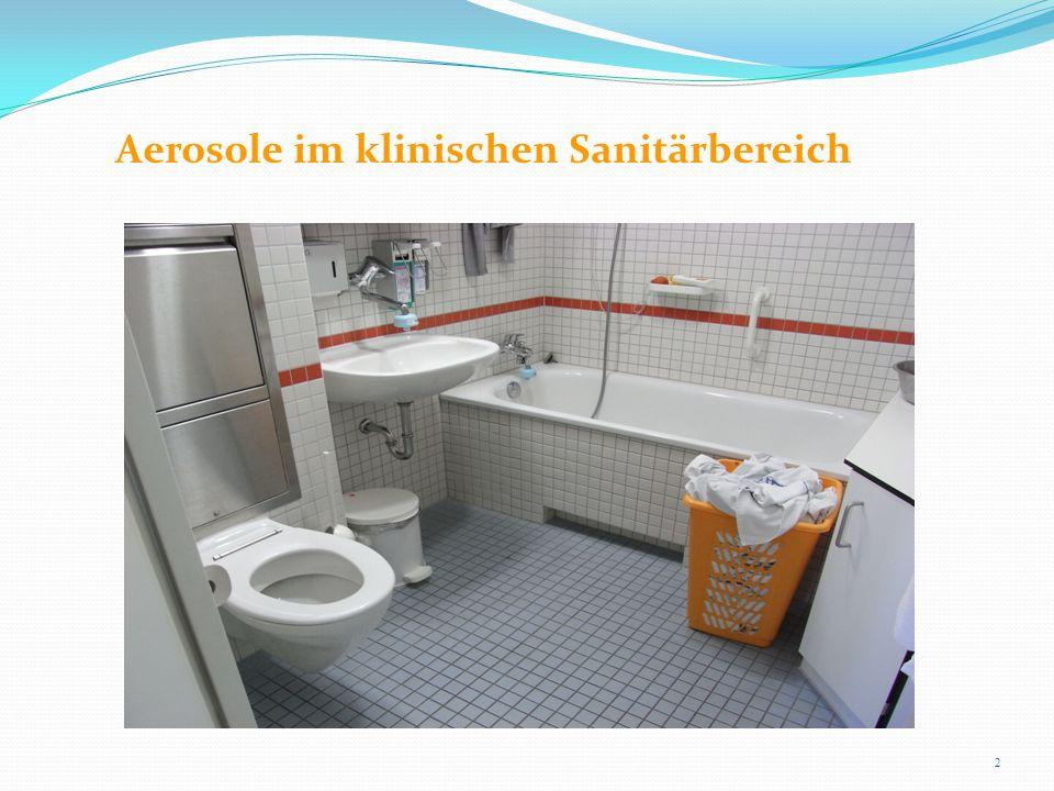 Aerosole im klinischen Sanitärbereich 2