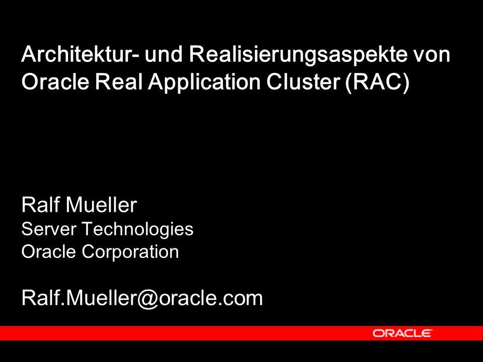 53 Lokale Ausfallsicherheit auf Rechnerebene Umschaltzeit < 1 Minuten Skaliert bis zur Anzahl der CPUs der Knoten Crash betrifft 25% der User Leistung nach Ausfall 75% Oracle9i RAC Konfigurationsvarianten Oracle9i RAC - Mehrknotenkonfiguration Aktiver Oracle9i DB Knoten Aktiver Oracle9i DB Knoten Aktiver Oracle9i DB Knoten Aktiver Oracle9i DB Knoten