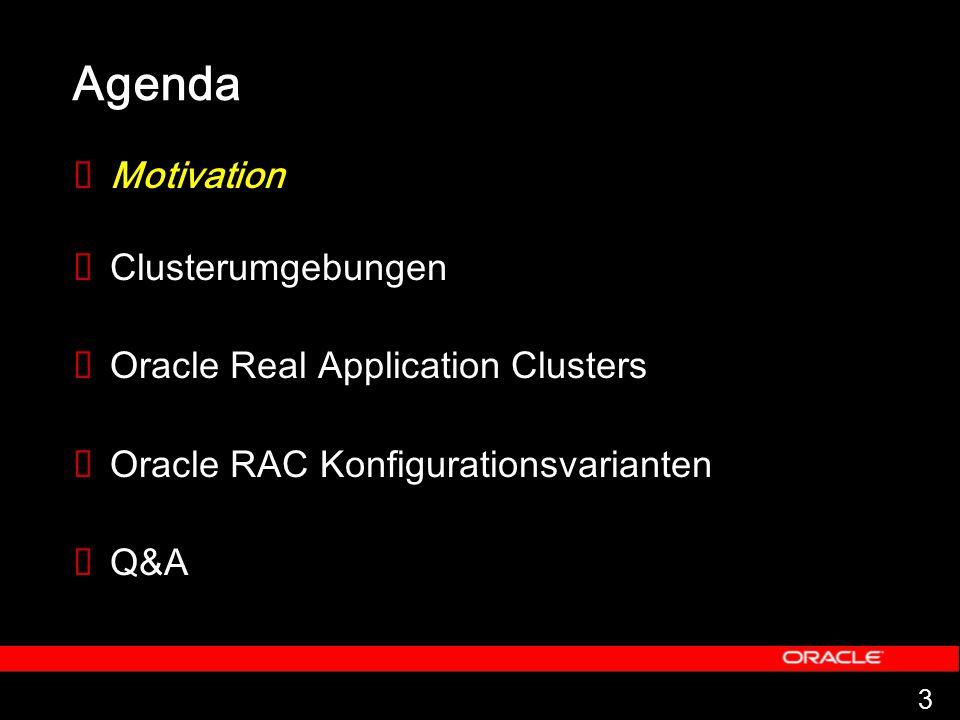 44 Diese Technologie ist einzigartig und kombiniert Skalierbarkeit und Hochverfügbarkeit f ü r alle Anwendungen: OLTP DWH Internet/Intranet-Auftritte Oracle9i Real Application Clusters