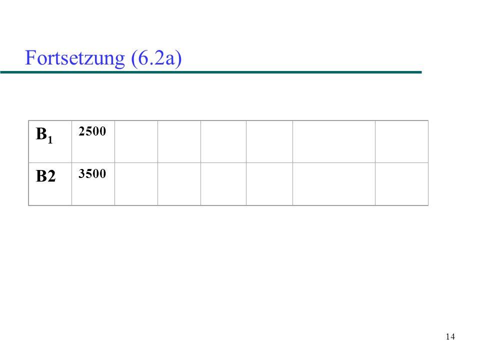 14 Fortsetzung (6.2a) B1B1 2500 B2 3500
