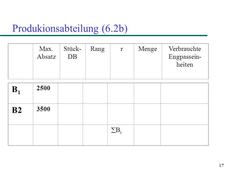 17 Produkionsabteilung (6.2b) B1B1 2500 B2 3500 BiBi Max.