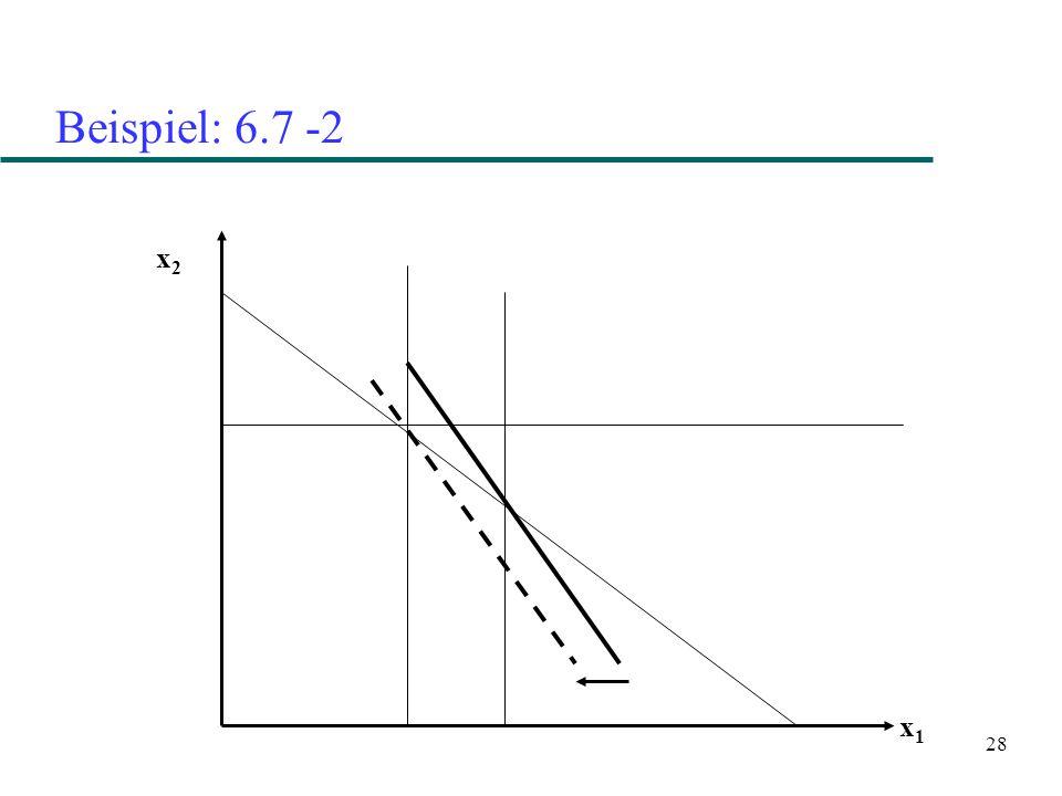 28 Beispiel: 6.7 -2 x2x2 x1x1