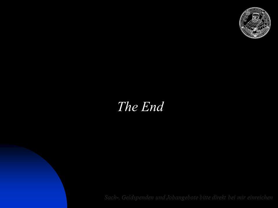 12.07.2015 10:51 © Matthias Drobny 2006 22 The End Sach-, Geldspenden und Jobangebote bitte direkt bei mir einreichen