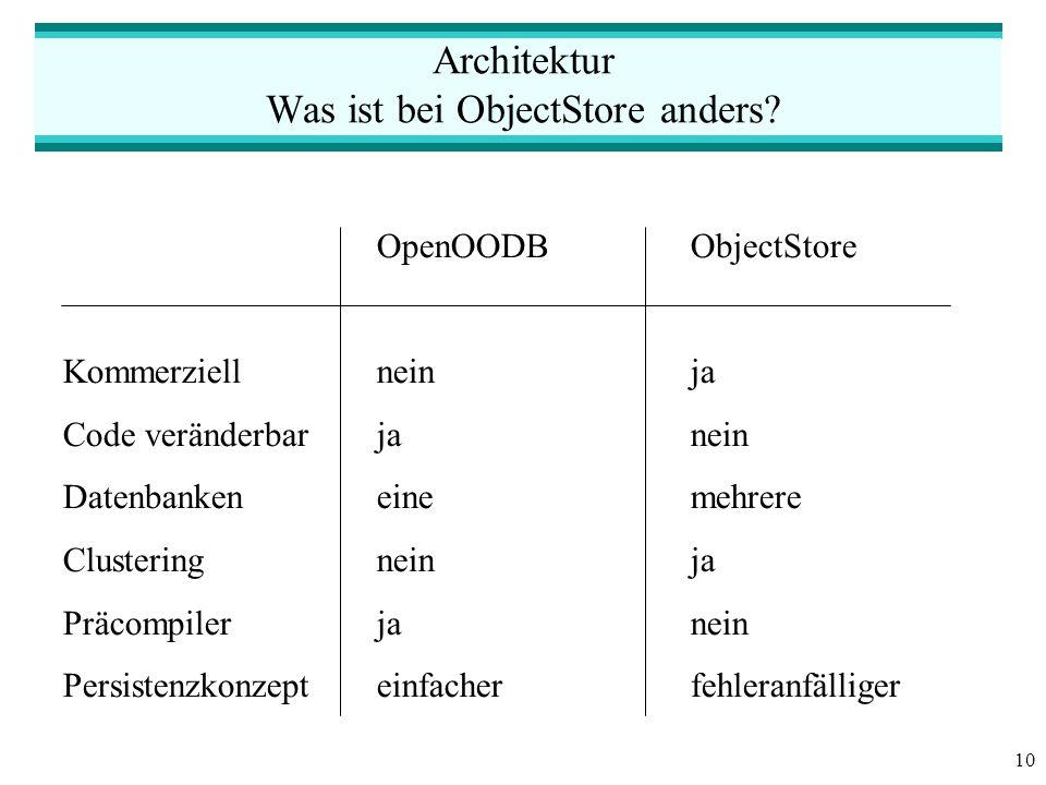 10 Architektur Was ist bei ObjectStore anders.
