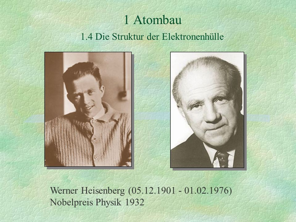 Werner Heisenberg (05.12.1901 - 01.02.1976) Nobelpreis Physik 1932
