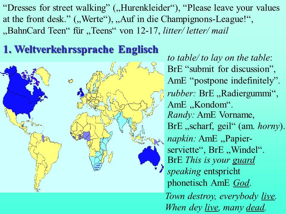 English... In 75 Ländern, für 375 Mio. Muttersprache, für 375 Mio. Zweitsprache. © KH Stoll 2000
