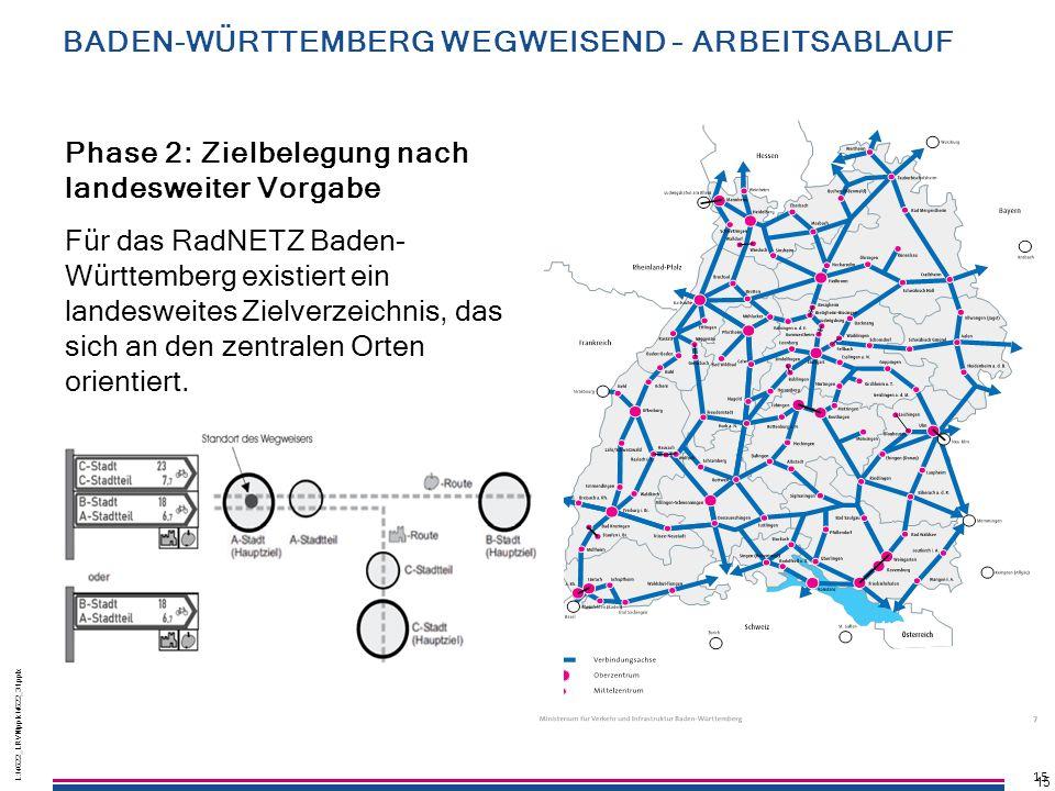 15 L:\4622_LRVN\pptx\4622_31.pptx 15 L:\4622_LRVN\pptx\4622_31.pptx 15 Für das RadNETZ Baden- Württemberg existiert ein landesweites Zielverzeichnis,