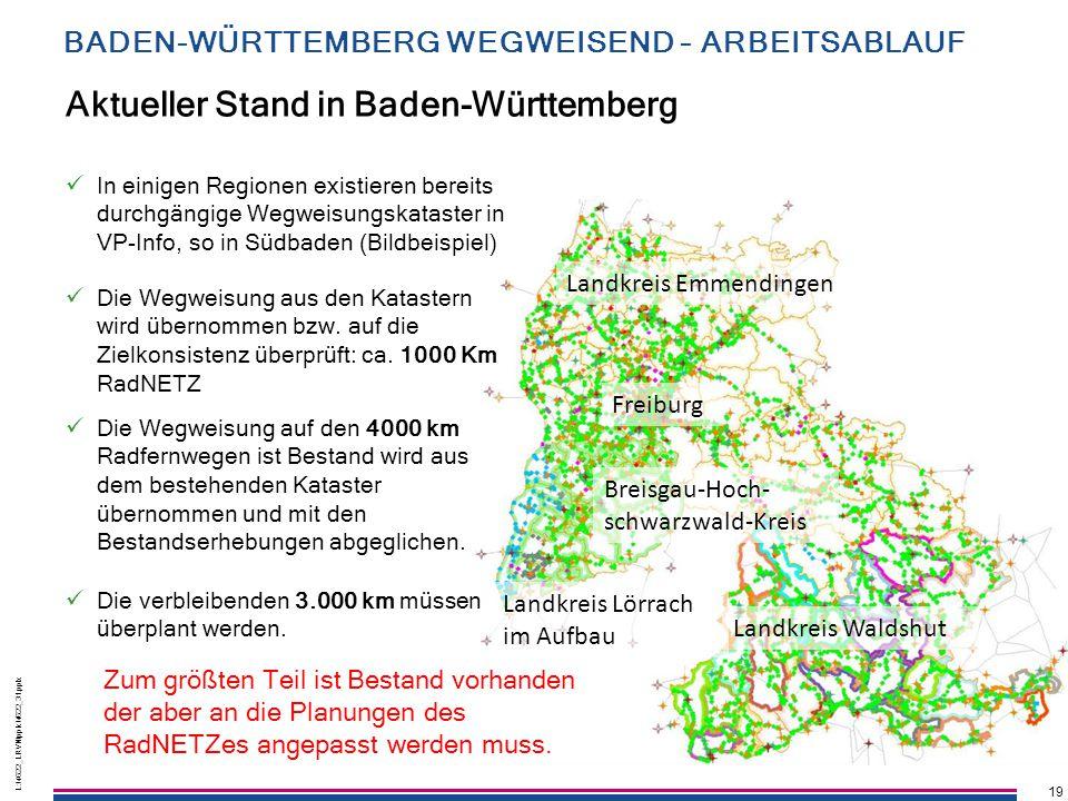 19 L:\4622_LRVN\pptx\4622_31.pptx 19 L:\4622_LRVN\pptx\4622_31.pptx Aktueller Stand in Baden-Württemberg In einigen Regionen existieren bereits durchg