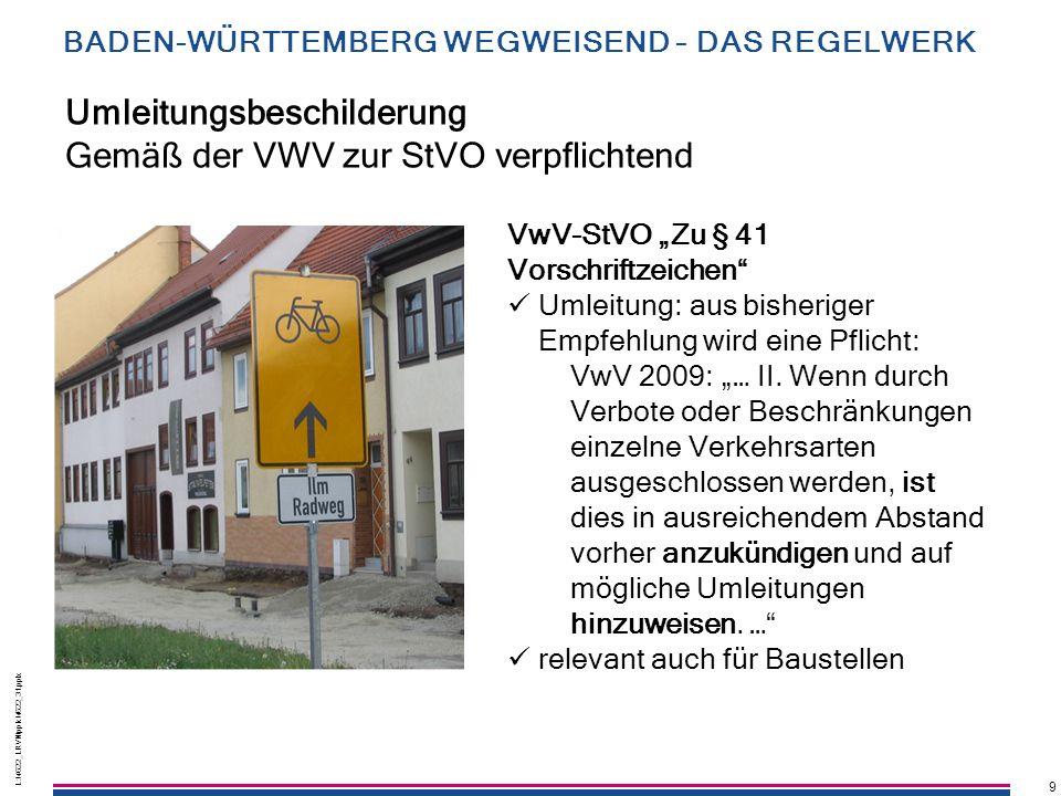 """9 L:\4622_LRVN\pptx\4622_31.pptx 9 Umleitungsbeschilderung Gemäß der VWV zur StVO verpflichtend VwV-StVO """"Zu § 41 Vorschriftzeichen"""" Umleitung: aus bi"""