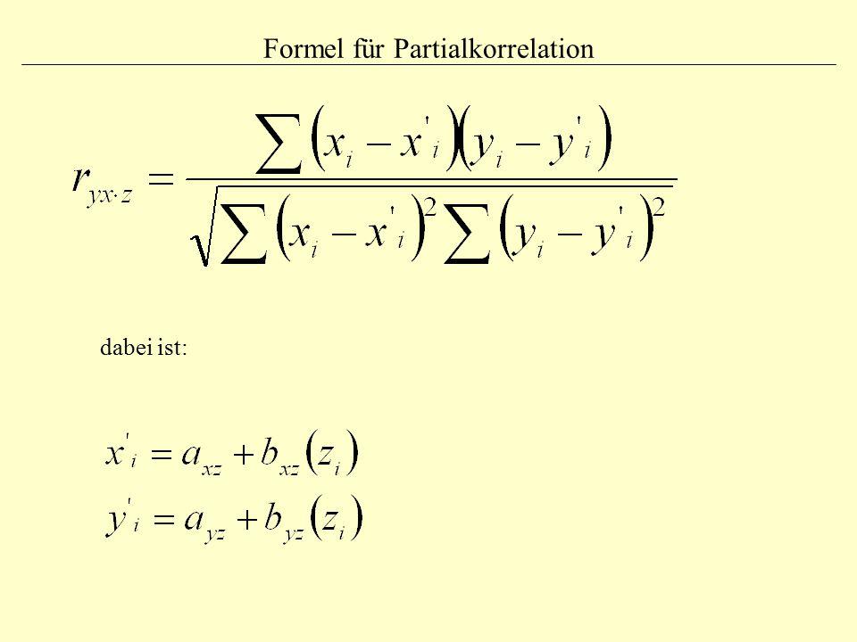 Formel für Partialkorrelation dabei ist: