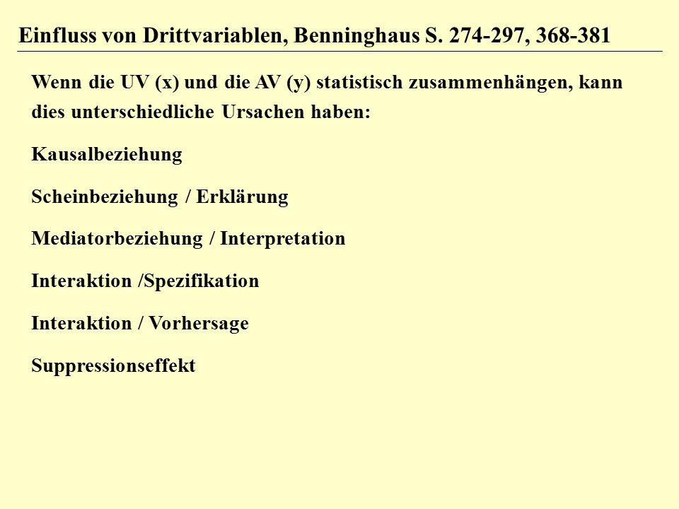 Einfluss von Drittvariablen, Benninghaus S.