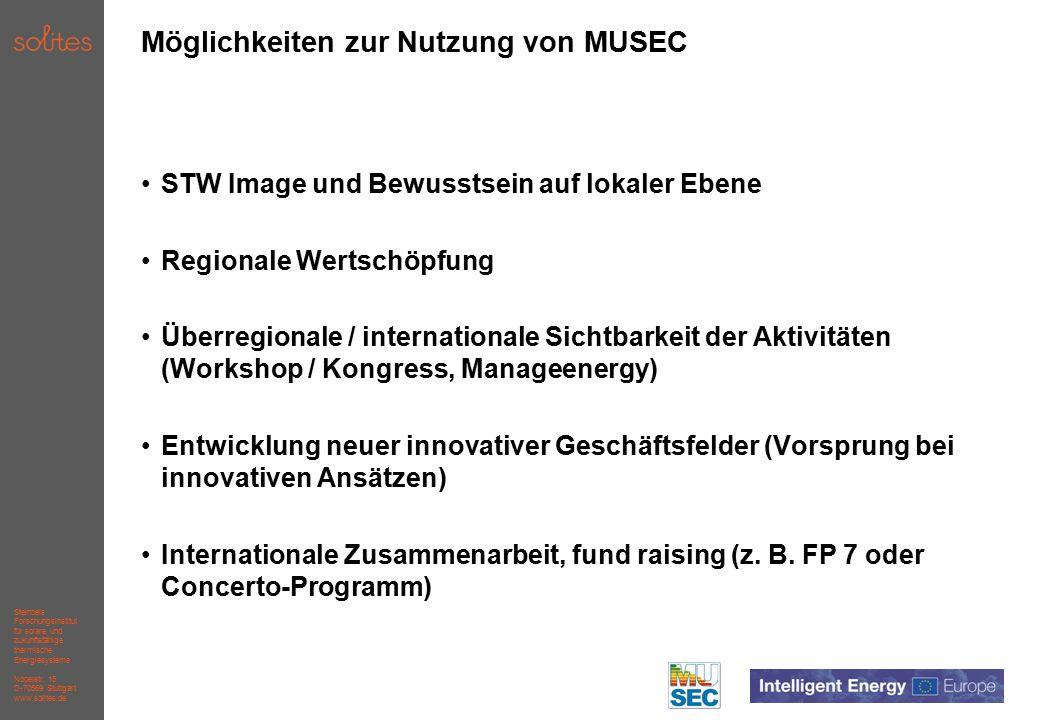 Steinbeis Forschungsinstitut für solare und zukunftsfähige thermische Energiesysteme Nobelstr.