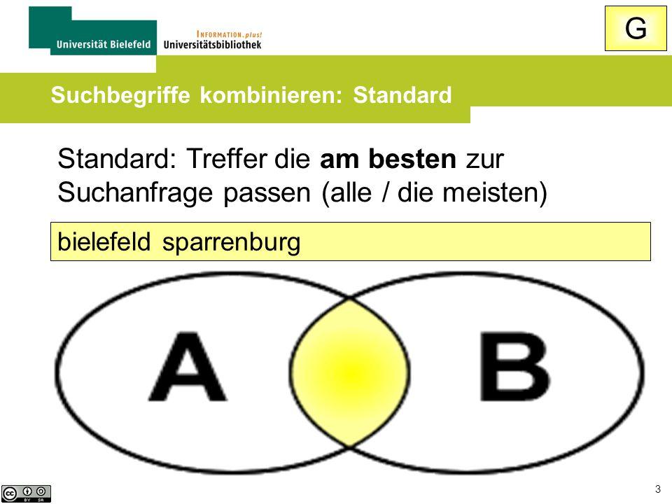 3 Standard: Treffer die am besten zur Suchanfrage passen (alle / die meisten) bielefeld sparrenburg Suchbegriffe kombinieren: Standard G