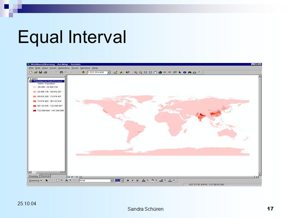 Sandra Schüren17 25.10.04 Equal Interval