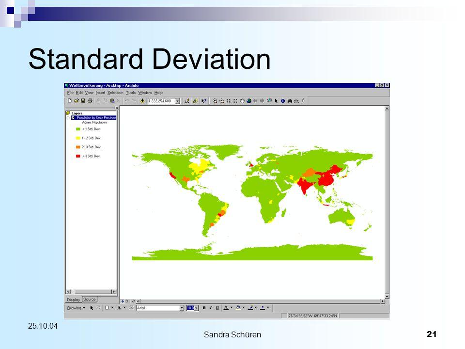 Sandra Schüren21 25.10.04 Standard Deviation
