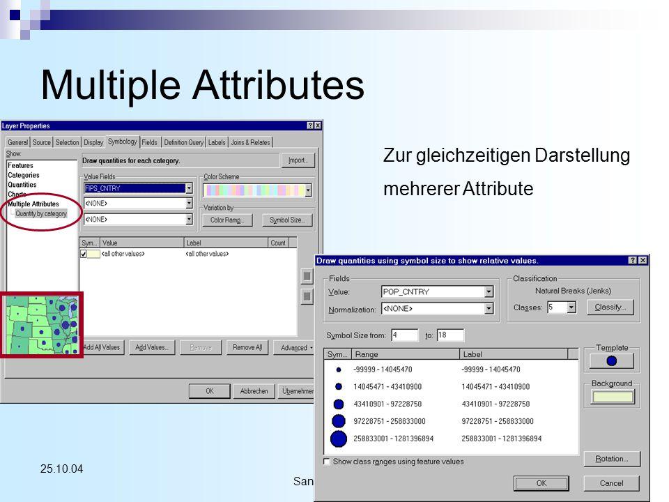 Sandra Schüren40 25.10.04 Multiple Attributes Zur gleichzeitigen Darstellung mehrerer Attribute
