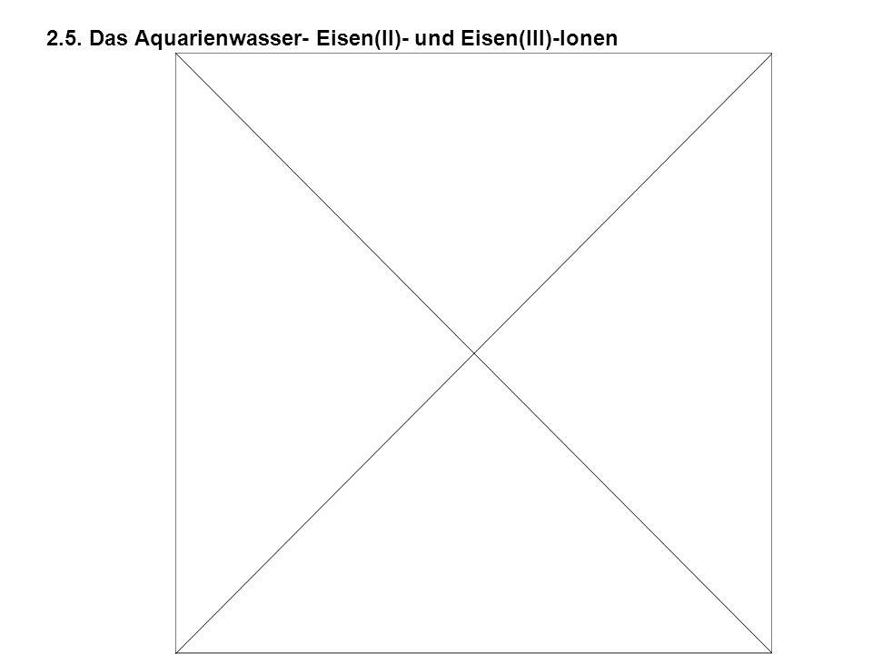 2.5. Das Aquarienwasser- Eisen(II)- und Eisen(III)-Ionen