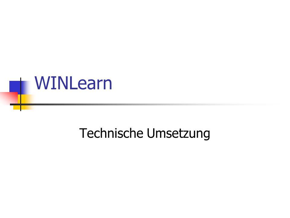 WINLearn Technische Umsetzung