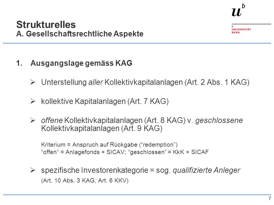 77 Strukturelles A. Gesellschaftsrechtliche Aspekte 1.