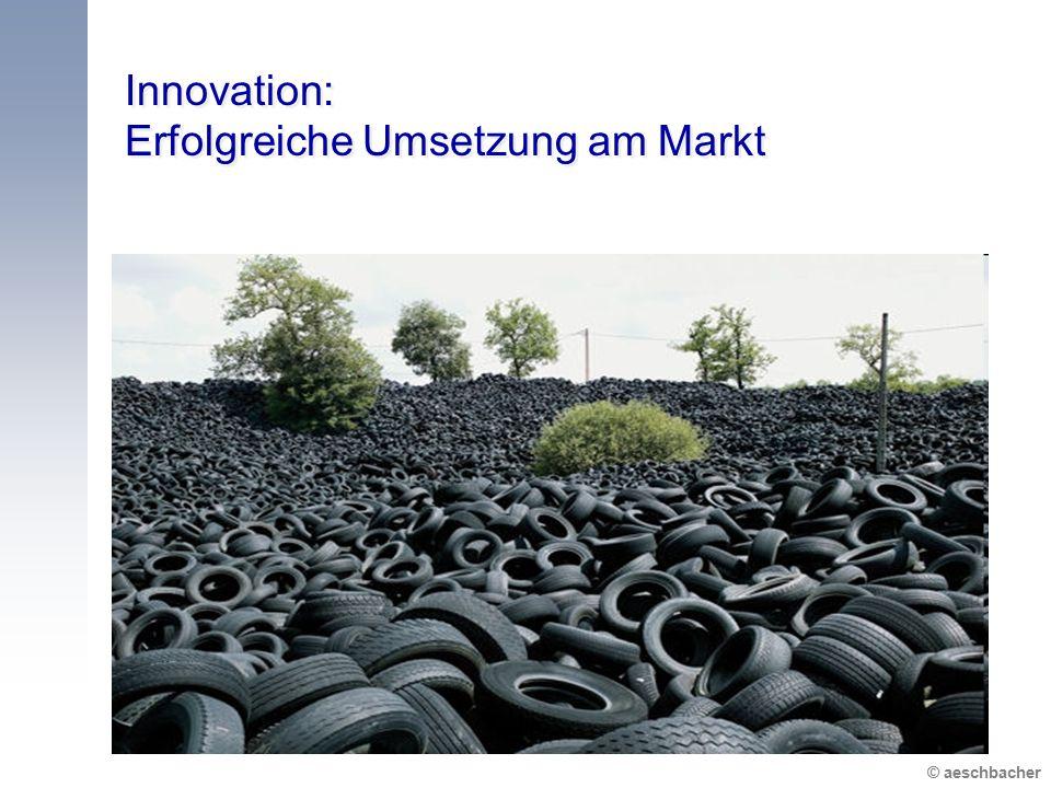 © aeschbacher Innovation: Erfolgreiche Umsetzung am Markt