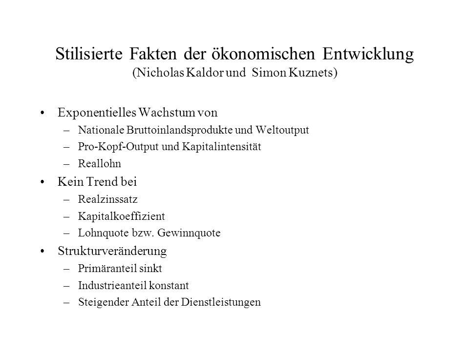Lohnquote und Realzinssatz in Österreich Bruttolohnquote (Anteil der Löhne am BIP) Realzinssatz (Inflationsbereinigter Zinssatz) 197067.03.1 197576.23.1 198076.45.0 198573.94.7 199072.55.3 199573.55.0 199969.64.8