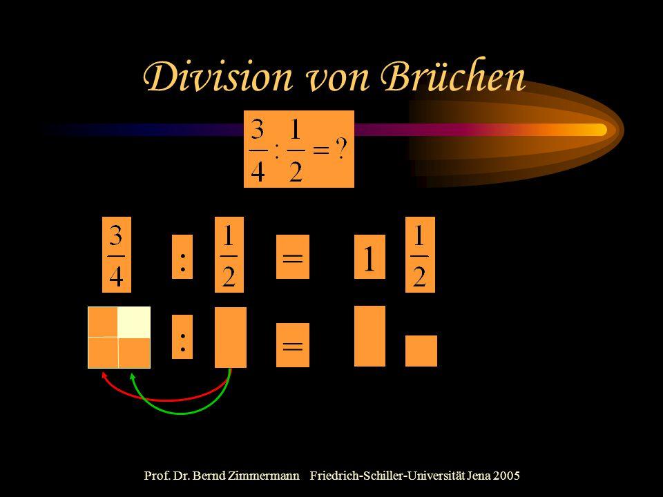 Prof. Dr. Bernd Zimmermann Friedrich-Schiller-Universität Jena 2005 Division von Brüchen : : = =1