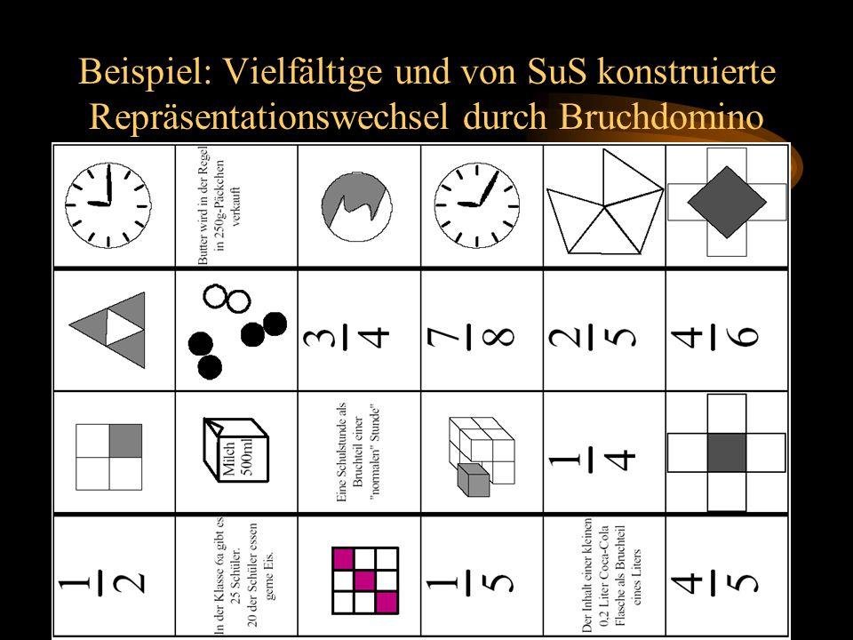 Prof. Dr. Bernd Zimmermann Friedrich-Schiller-Universität Jena 2005 Beispiel: Vielfältige und von SuS konstruierte Repräsentationswechsel durch Bruchd