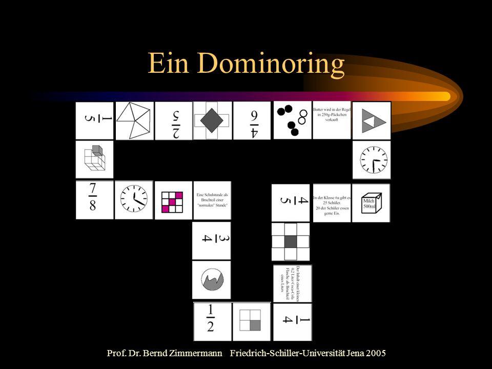 Prof. Dr. Bernd Zimmermann Friedrich-Schiller-Universität Jena 2005 Ein Dominoring