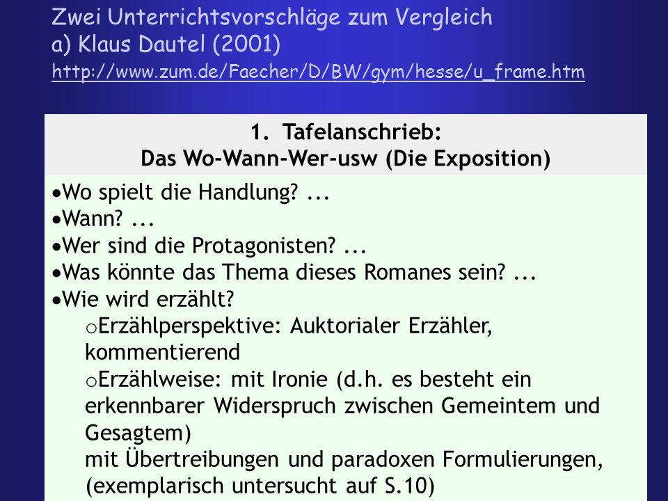 Dokumente aus Hesses Leben - Arbeitsaufträge: 1.