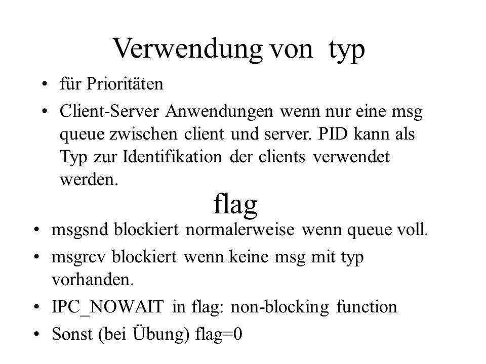 flag msgsnd blockiert normalerweise wenn queue voll.
