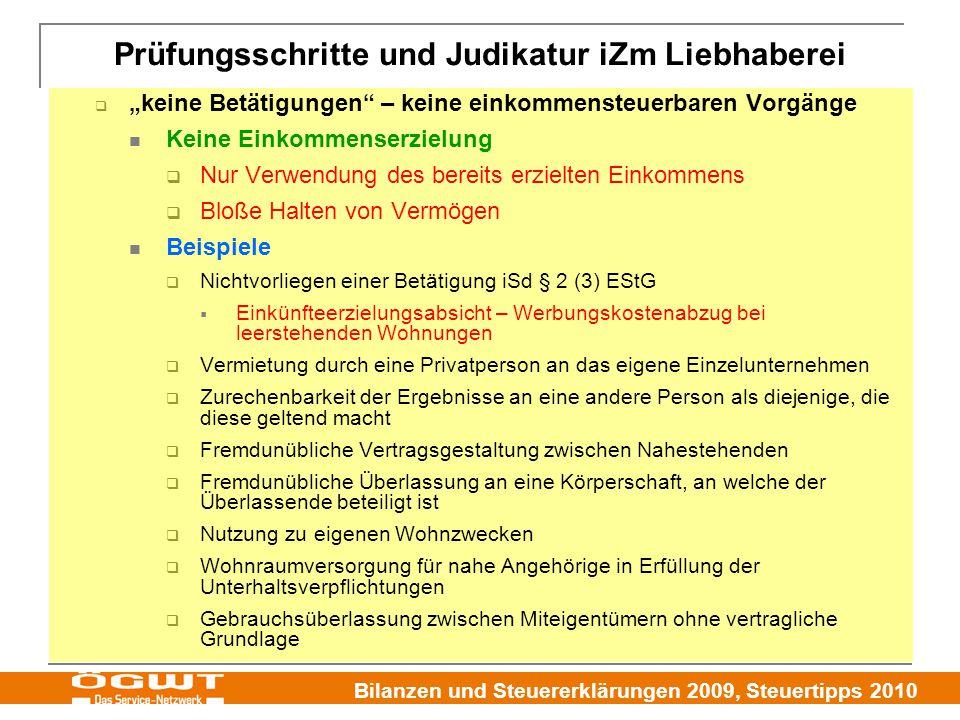 """Bilanzen und Steuererklärungen 2009, Steuertipps 2010  """"keine Betätigungen"""" – keine einkommensteuerbaren Vorgänge Keine Einkommenserzielung  Nur Ver"""