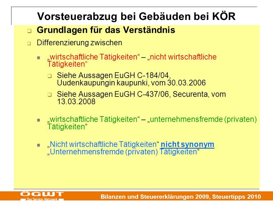 """Bilanzen und Steuererklärungen 2009, Steuertipps 2010  Grundlagen für das Verständnis  Differenzierung zwischen """"wirtschaftliche Tätigkeiten"""" – """"nic"""