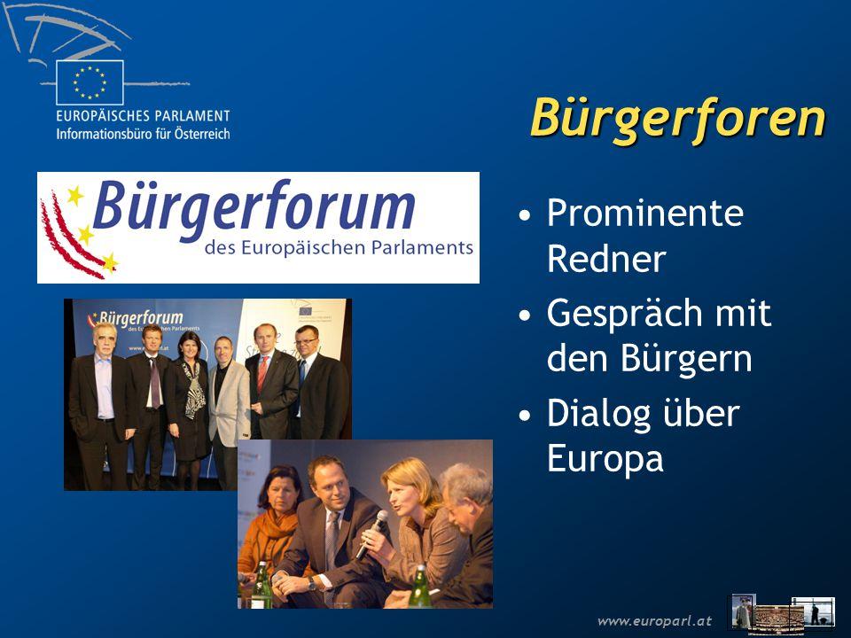 Bürgerforen Prominente Redner Gespräch mit den Bürgern Dialog über Europa