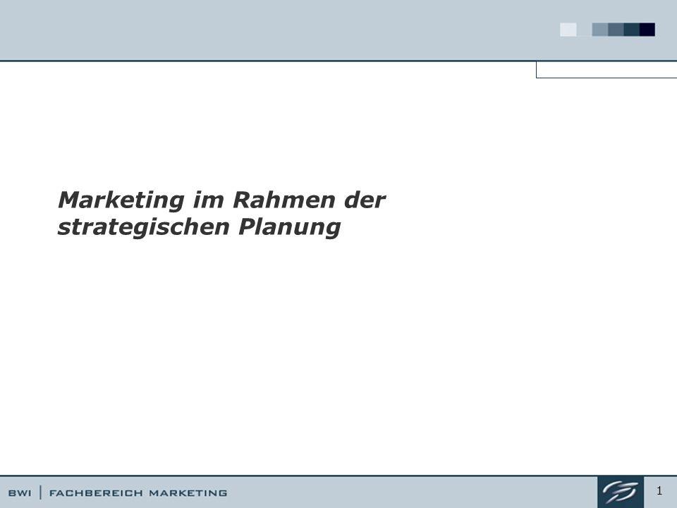 Marketing im Rahmen der strategischen Planung 1